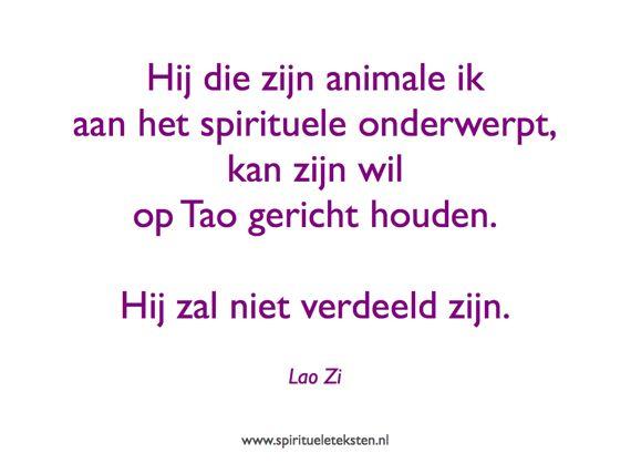 Citaat Lao Zi Hij die zijn animale ik aan het spirituele onderwerpt spirituele teksten