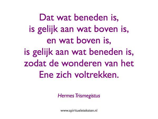 Hermes Trismegistus citaat Tabula Smaragdina Smaragden Tafel