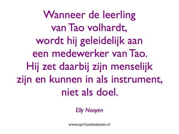 Leerling van Tao citaat Hart voor Tao Elly Nooyen spirituele teksten