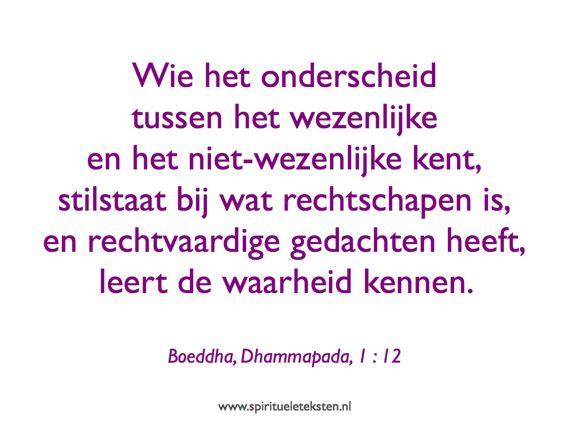 Boeddha uitspraak Dhammapada spirituele teksten