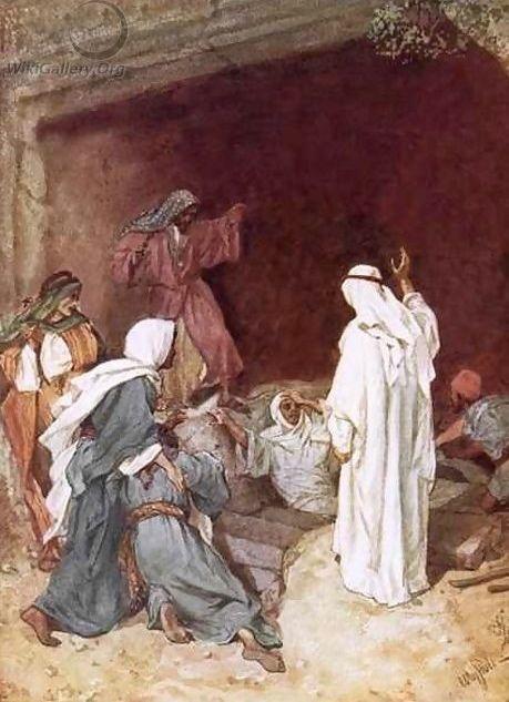 Lazarus opgewekt uit de dood William Brassey Hole