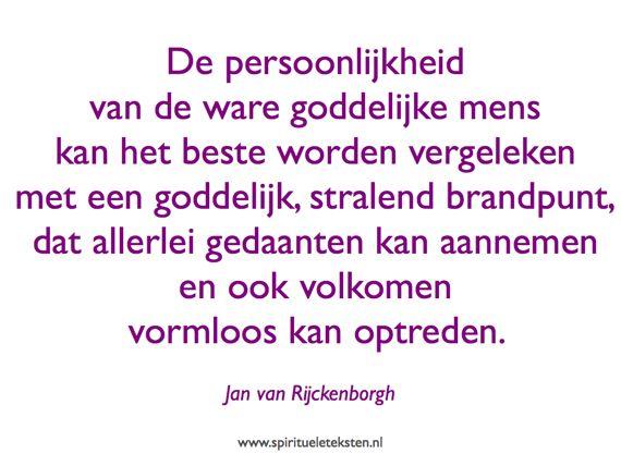 Persoonlijkheid van de ware goddelijke mens spiritueel citaat Jan van Rijckenborgh