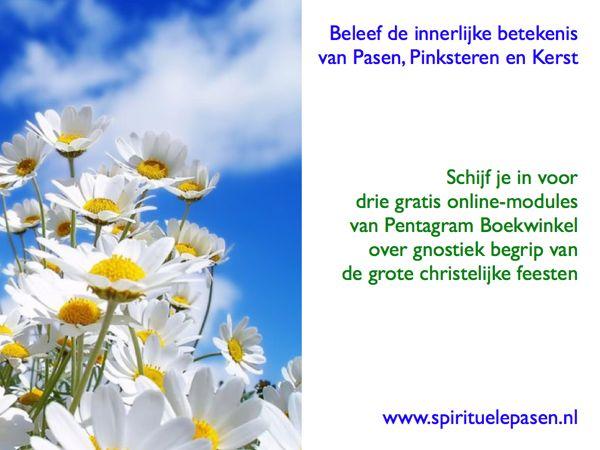 Spirituele Pasen Pinksteren en Kerst esoterische betekenis modules Pentagram Boekwinkel 599
