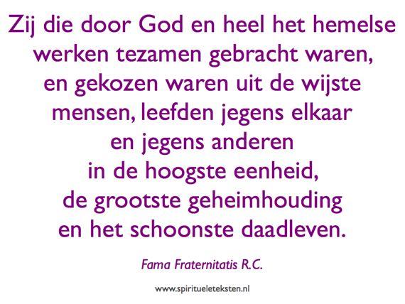 4 Fama Fraternitatis citaat spirituele teksten 570