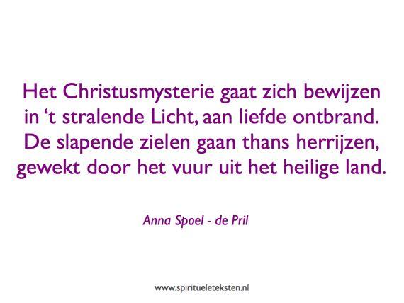 Gedicht Pinksteren citaat spirituele teksten Anna Spoel de Pril