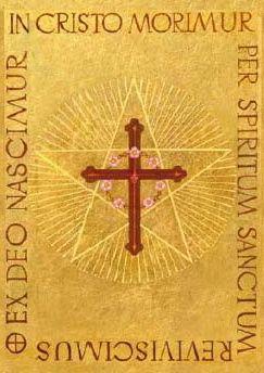 Ex Deo nascimur In Christo morimur Per spiritum sanctum Riviviscimus rozenkruis
