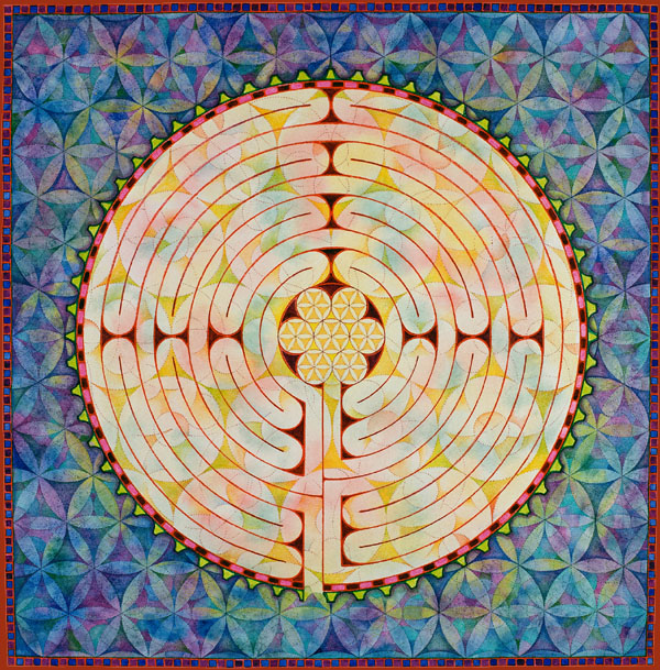 Charles Gilchrist labyrint flower of life
