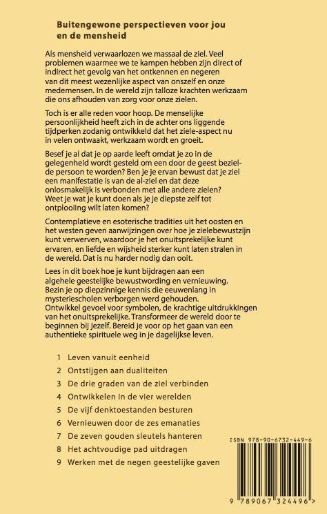 achterkant boek mysterien en symbolen van de ziel Andre de Boer