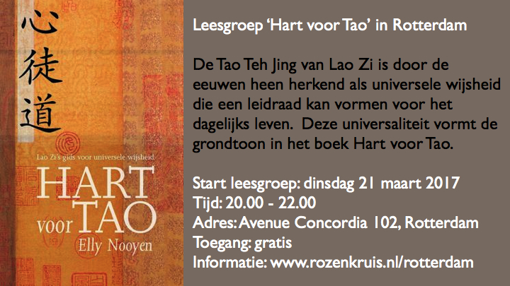 Hart voor Tao leesgroep Rotterdam 2017
