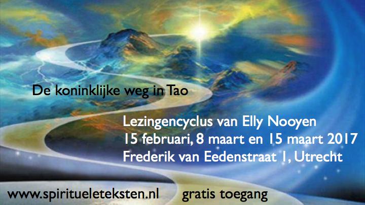 Lezingencyclus van Elly Nooyen de koninklijke weg in Tao .105