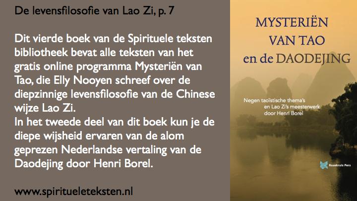 De levensfilosofie van Lao Zi Mysterien van Tao