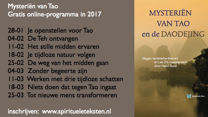Mysteriën van Tao gratis online-programma.088