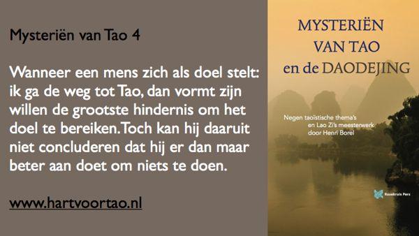 Tao Citaat mysterien van tao 4