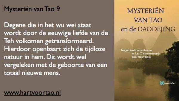 Tao Citaat mysterien van tao 9