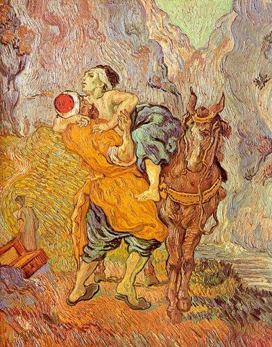 Vincent van-Gogh-Barmhartige Samaritaan