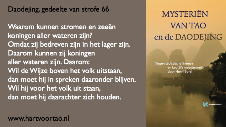 Citaat Spirituele teksten Mysterien van Tao.111