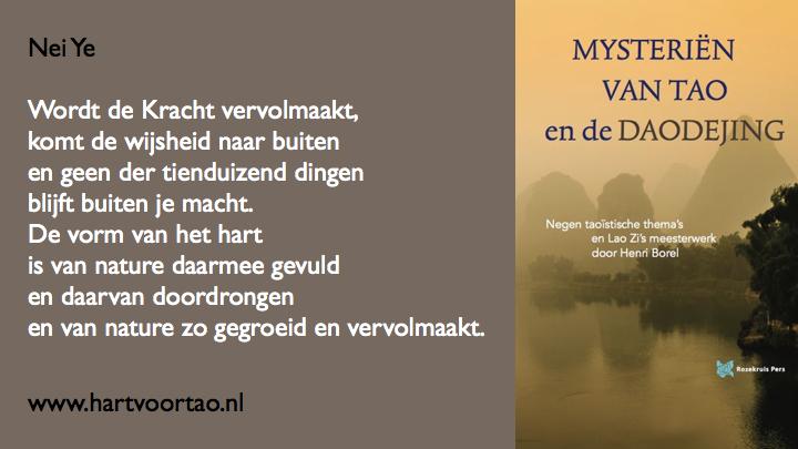 Citaat Spirituele teksten Mysterien van Tao.112