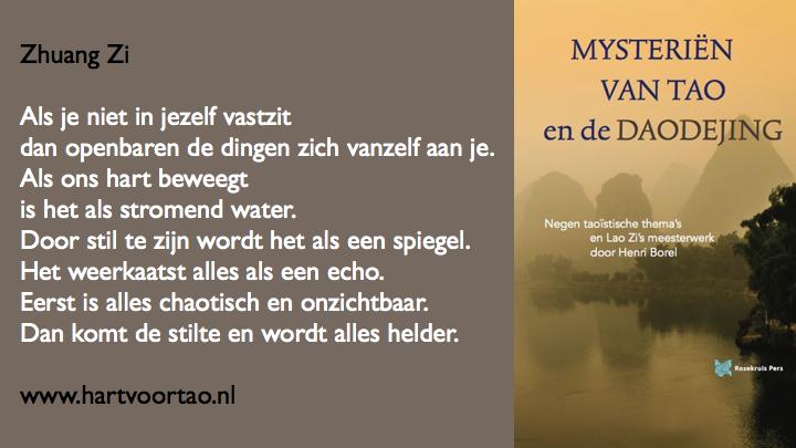 Citaat Spirituele teksten Mysterien van Tao.113
