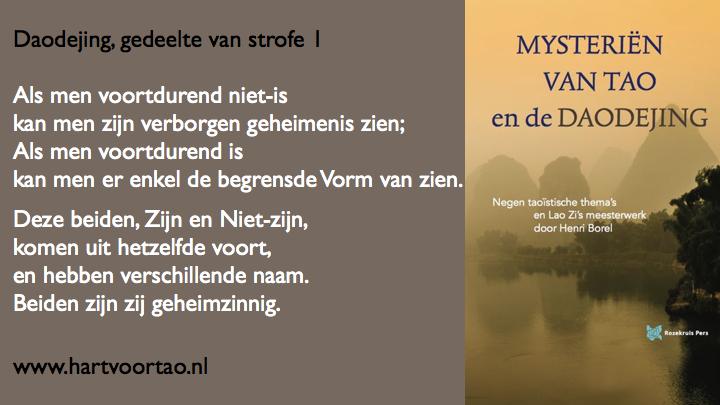 Citaat Spirituele teksten Mysterien van Tao.114