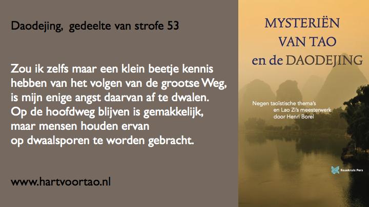 Citaat Spirituele teksten Mysterien van Tao.115