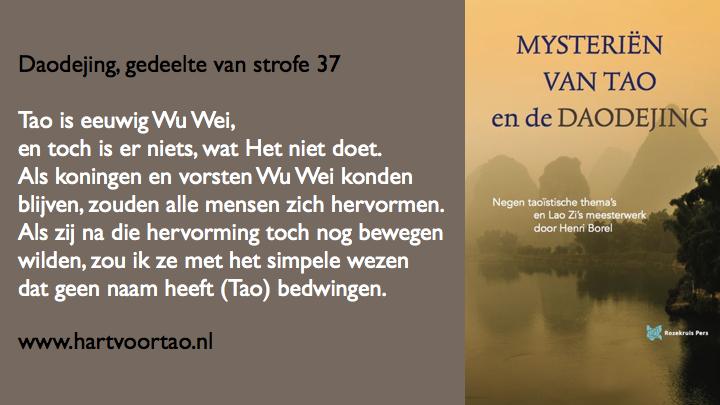 Citaat Spirituele teksten Mysterien van Tao.116