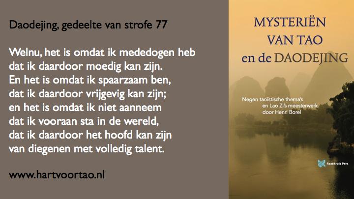 Citaat Spirituele teksten Mysterien van Tao.117