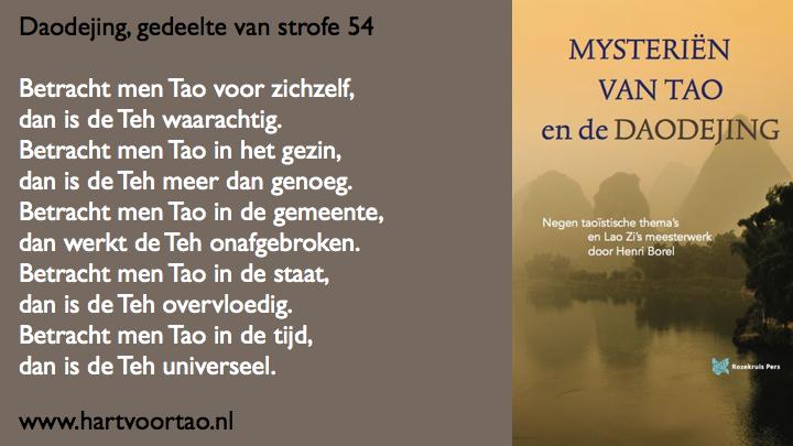 Citaat Spirituele teksten Mysterien van Tao.119