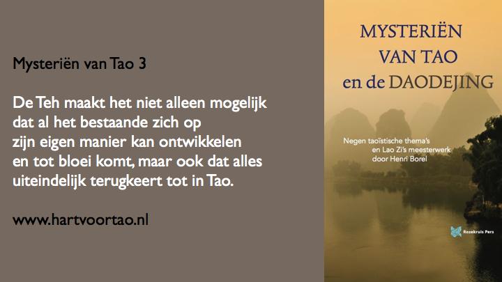 Mysterien van Tao citaat beschouwing 3
