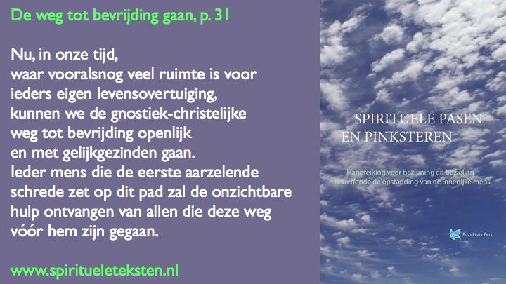 De weg tot bevrijding gaan citaat Spirituele Pasen met boek.035