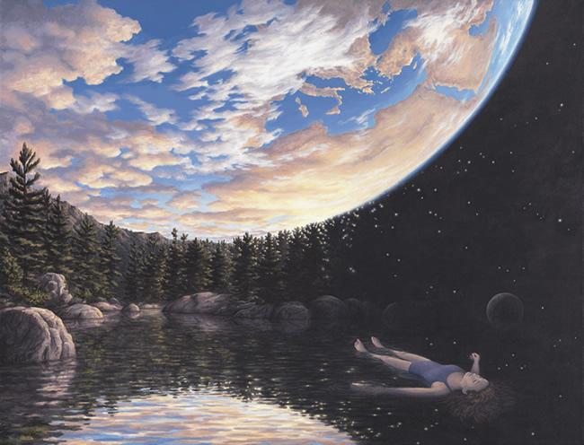 Rob Gonsalves aards en kosmisch bewustzijn