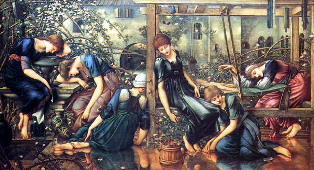 The sleeping beauty Edward Burne Jones 3